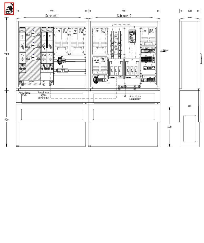 UESA ZAS Erzeugungsanlagen 135kVA (Überschusseinspeisung)