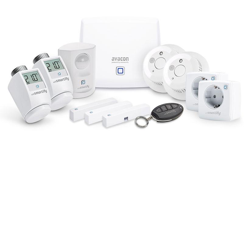 Starter-Set Sicherheit, Heizung & Licht (3 Räume)