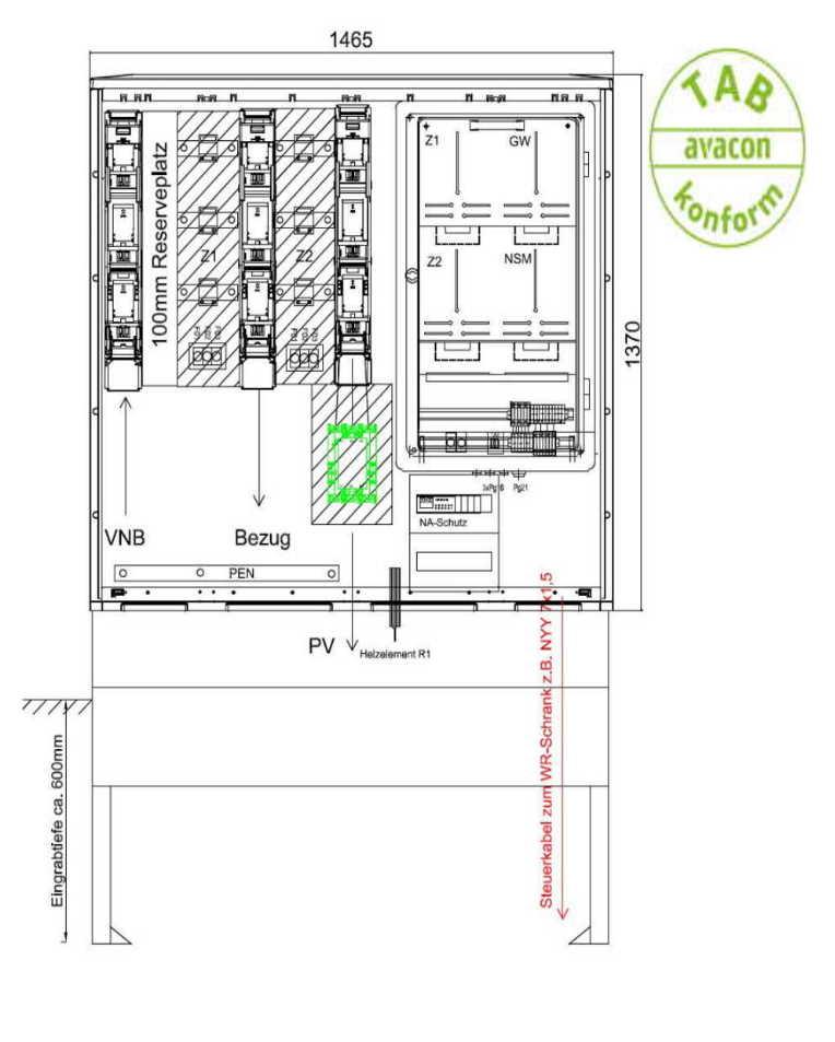 GSAB ZAS Erzeugungsanlagen bis 135 kVA (Überschusseinspeisung)