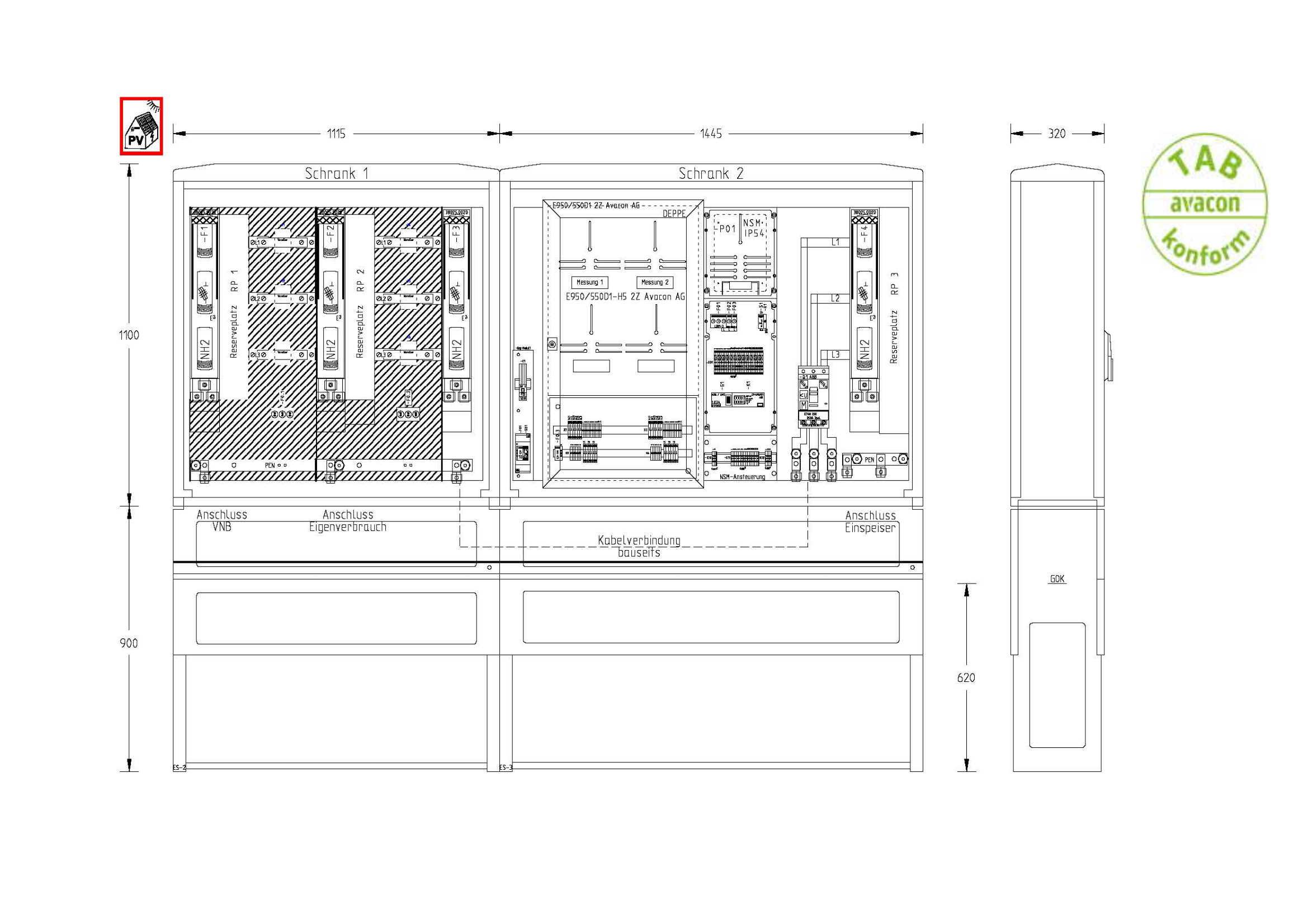 UESA ZAS Erzeugungsanlagen bis 135 kVA (Überschusseinspeisung)