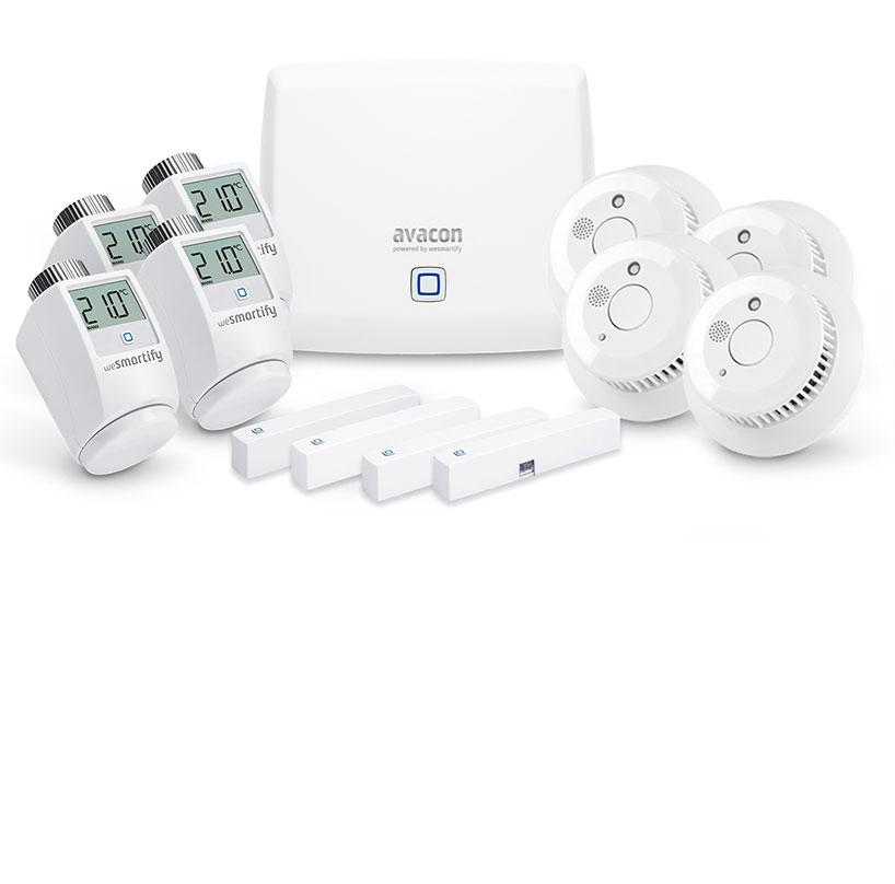 Starter-Set Sicherheit & Heizung (5 Räume)