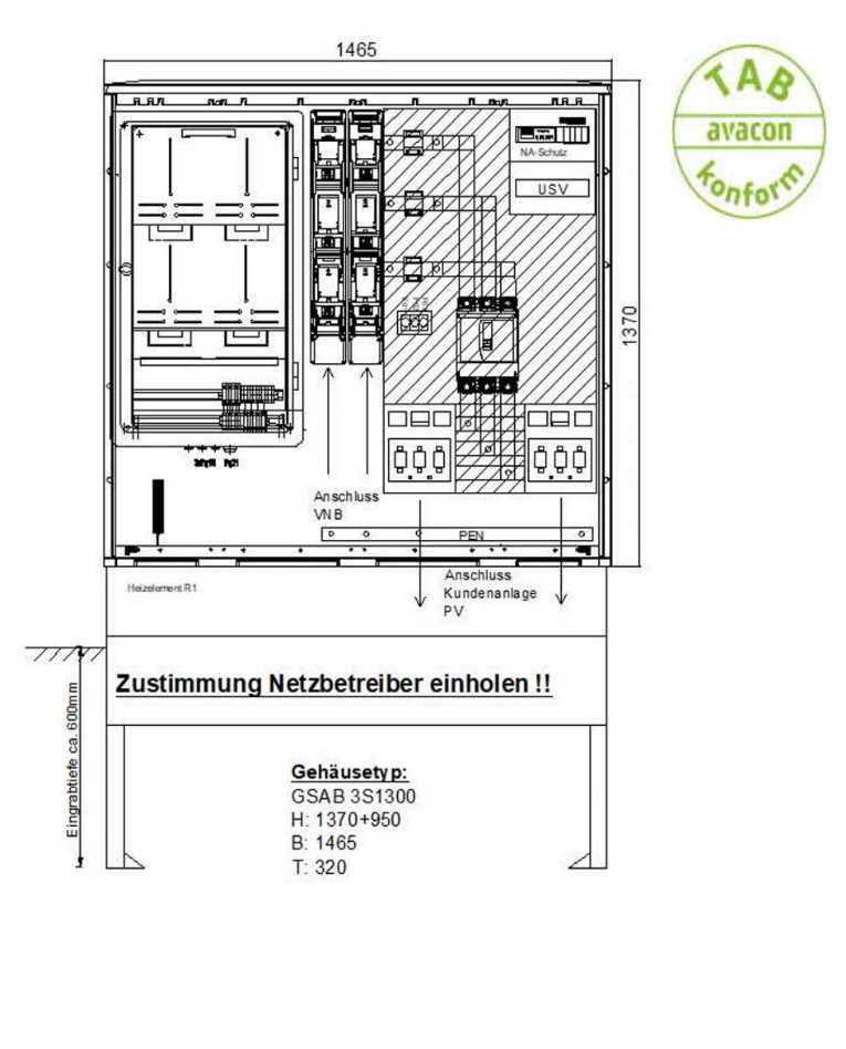 GSAB ZAS Erzeugungsanlagen bis 350 kVA (Volleinspeisung)