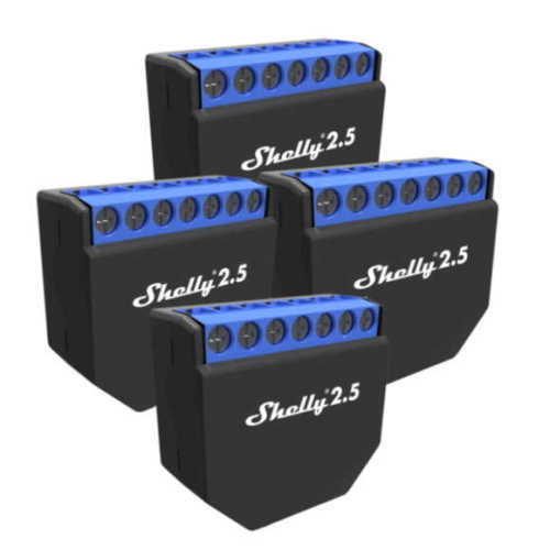 4er-Set Shelly 2.5