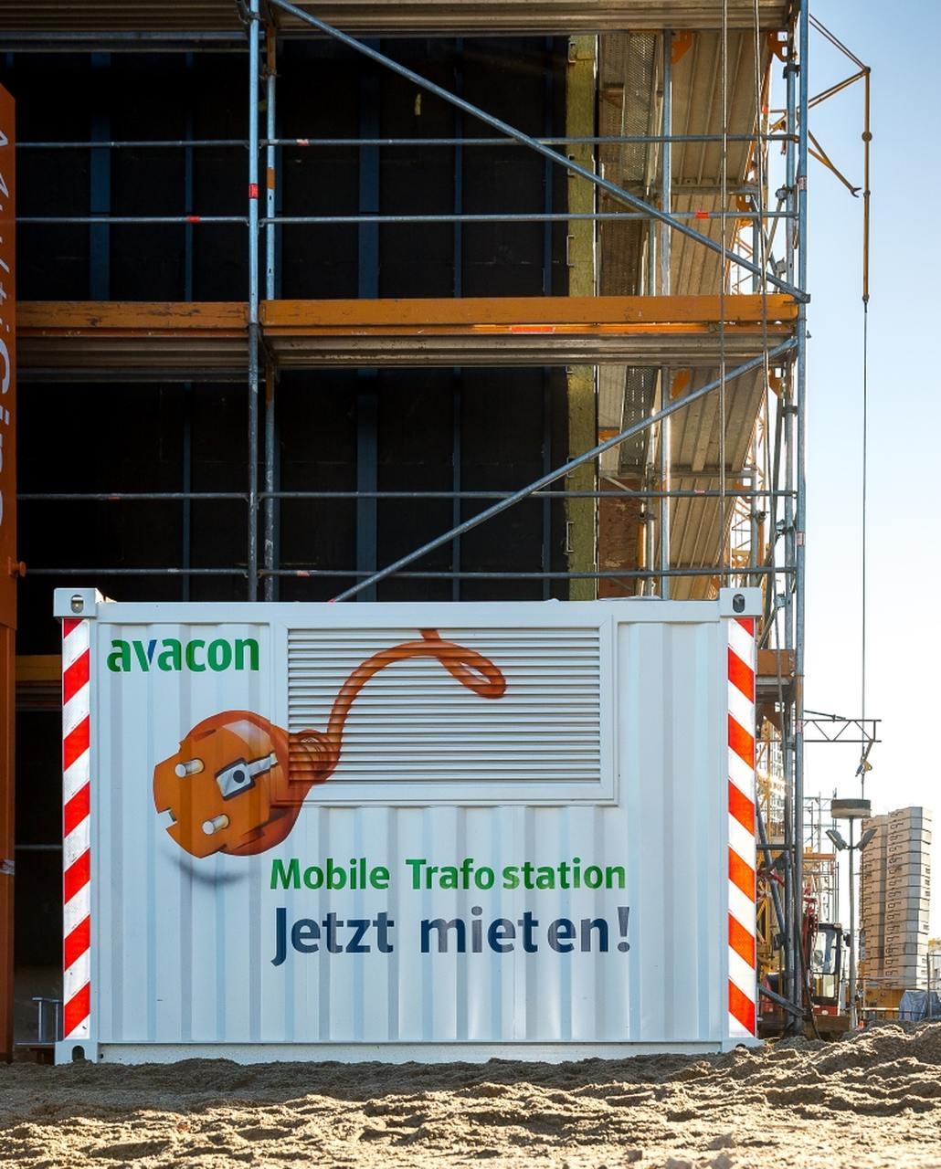 Vermietung von mobilen Trafostationen