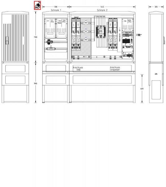 UESA ZAS Erzeugungsanlagen 300kVA (Volleinspeisung)